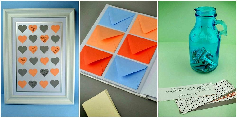 3 alternativas al libro de visitas Super Easy DIY Guestbook