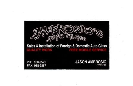 Ambrosio's  Auto Glass